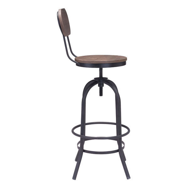 Twin Peaks Industrial modern Adustable Bar Stool