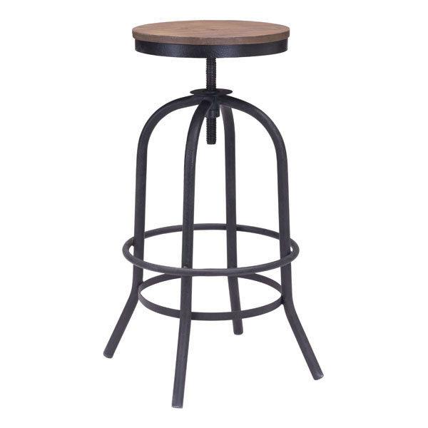 Twin Peaks Industrial Modern Adustable Backless Bar Stool 98183-EB