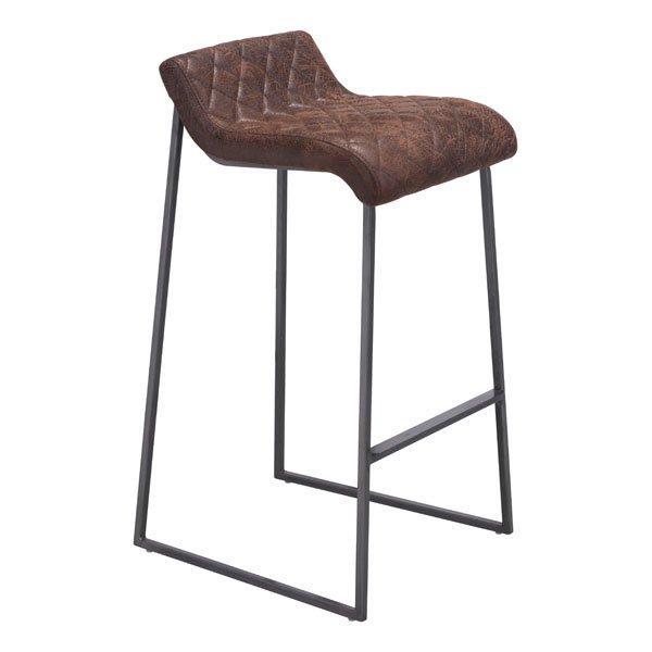 Father Backless Bar Stool in Vintage Brown 100408-EB