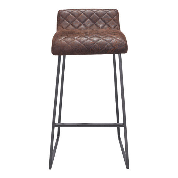 Father Backless Bar Stool in Vintage Brown