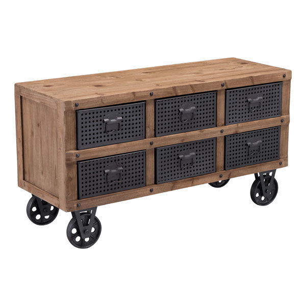 Green Industrial Modern Rolling Storage Cabinet 100418-EB