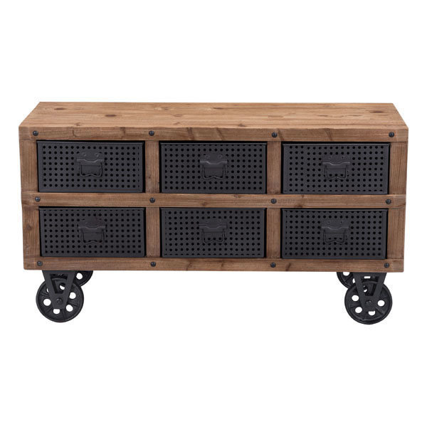 Green Industrial Modern Rolling Storage Cabinet