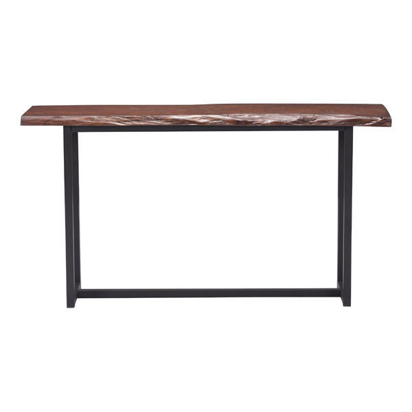 Papillion Industrial Modern Console Table Live edge