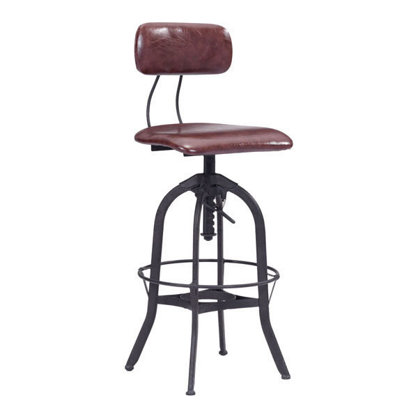 Gering Industrial vintage modern adjustable Bar Stool 100442-EB