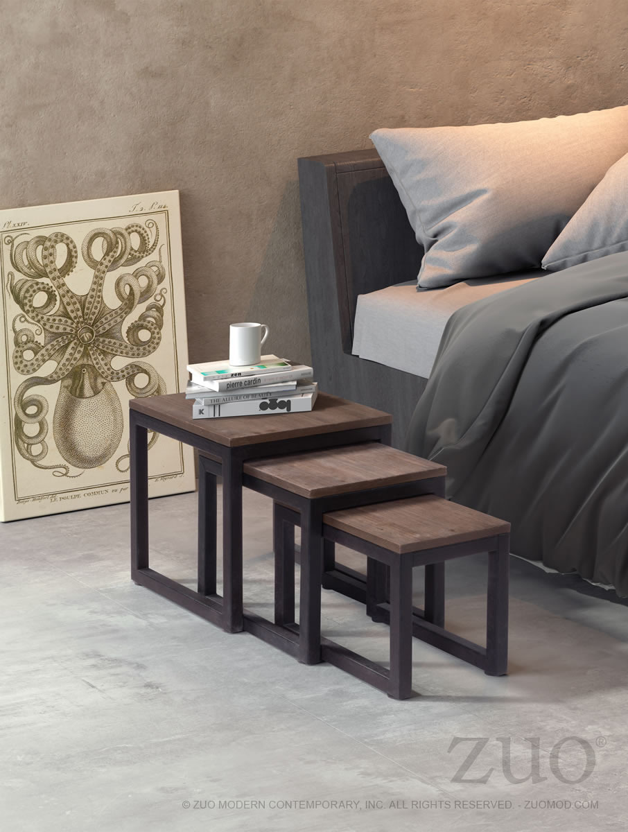 Civic Center modern industrial Nesting Tables