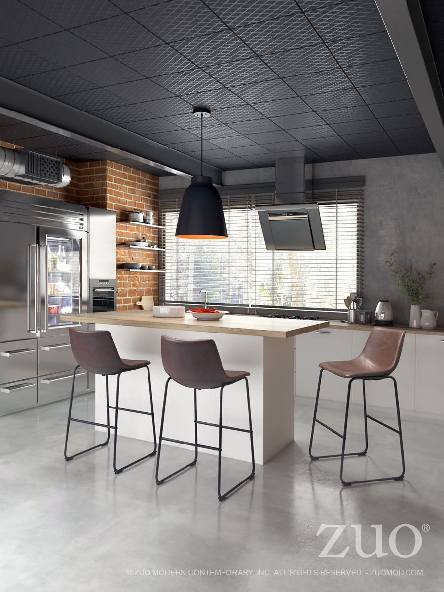 Smart Industrial modern Bar height Chair