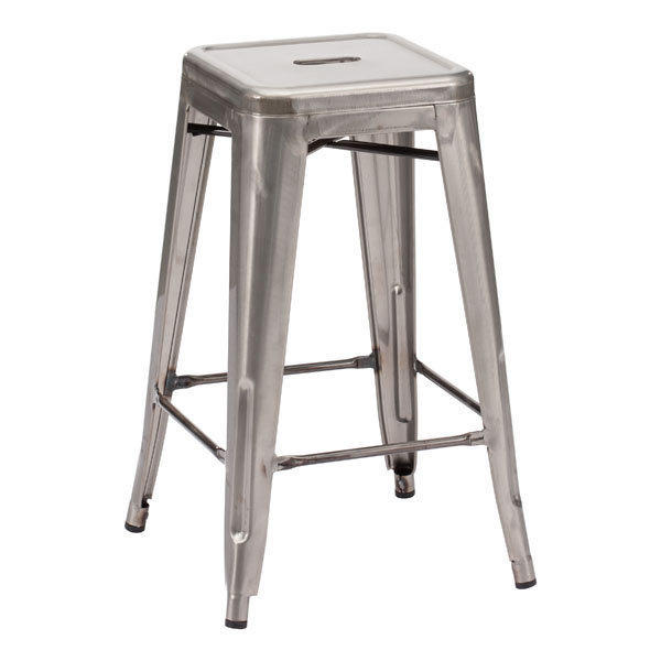 Marius Industrial style Backless Counter Stool Gunmetal 106114-EB