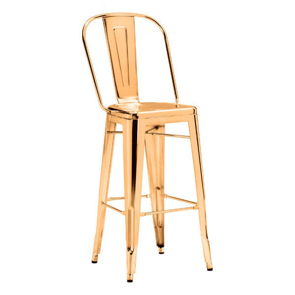 Elio Industrial Modern Gold Bar Stool 108062-EB