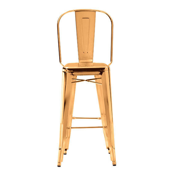 Elio Industrial Modern Gold Bar Stool