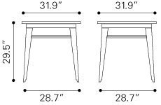 Titus Industrial Modern Dining Table