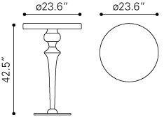 Molokai Stainless steel Bar Hieght Table
