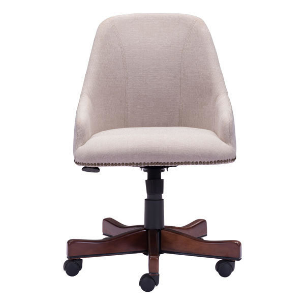 Maximus Industrial Retro Office Chair Beige
