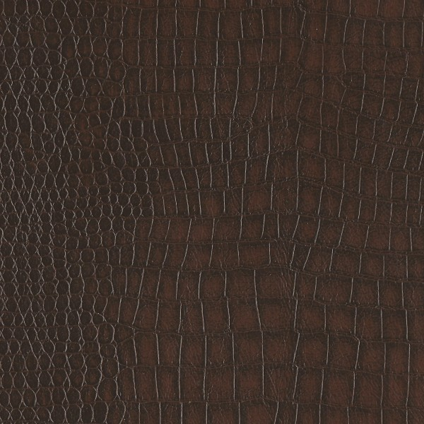 Alligator Brown Bonded Leather