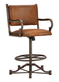 Baltimore Tilt Swivel Bar Stool in Inca 1305330-EB