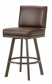 Pasadena Upholstered Swivel Counter Stool in Rust and Ford Brown Seat 4803426-EB