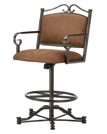 Sherwood Tilt Swivel Counter Stool in Rust and Radar Nugget seat 3205626-EB