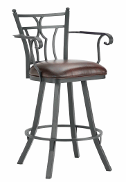 Randle Counter Stool with Arms in Black 3004126-EB