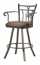 Randle Counter Stool with Arms in Rust 3004426