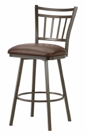 Emma Counter Stool in Rust and Ford Brown Seat 5603426-EB