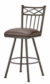 Alexander Counter Stool in Rust and Ford Brown Seat 1103426-EB