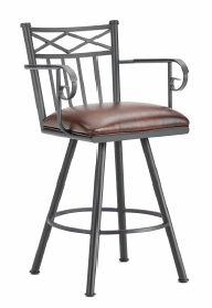 Alexander Counter Stool with Arms in Black 1104126-EB