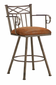 Alexander Counter Stool with Arms in Inca 1104326-EB