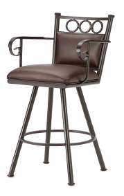 Waterson Counter Stool with Arms in Rust and Ford brown Seat 3604426-EB
