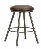 Alexander Backless Bar Stool in Rust with ford brown seat 1102430-EB