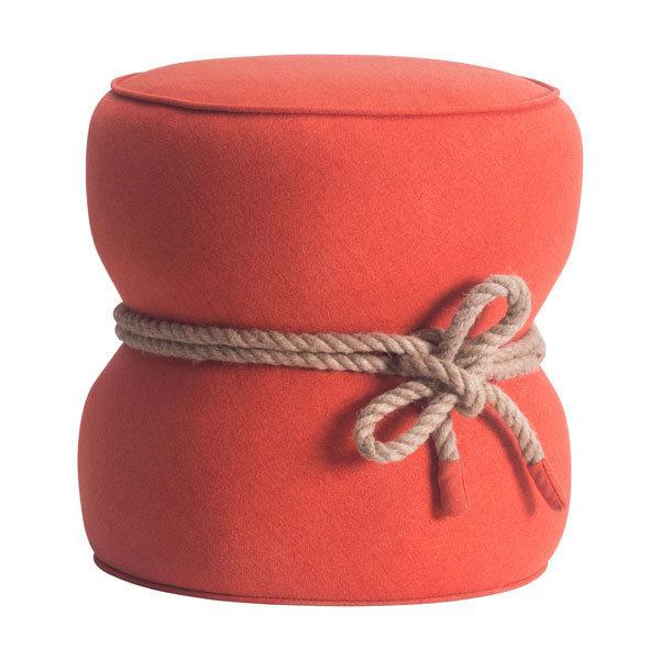 Tubby Ottoman Orange 13019