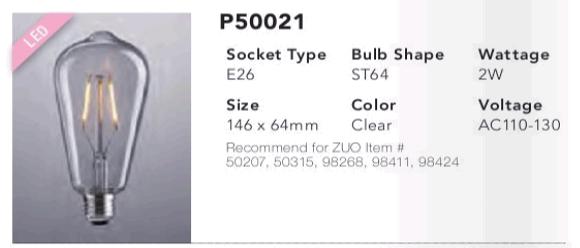 P50021 ST64 LED Bulb