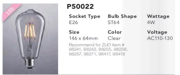 P50022 ST64 LED Bulb