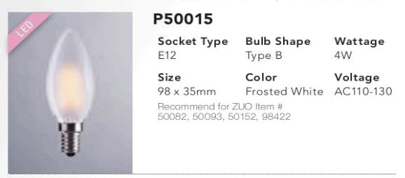 P50015 Type B LED Bulb