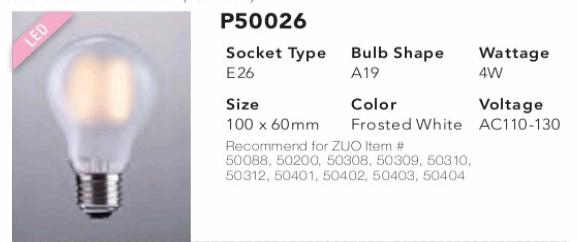 P50026 A19 LED Bulb