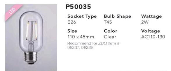 P50035 T45 LED Bulb