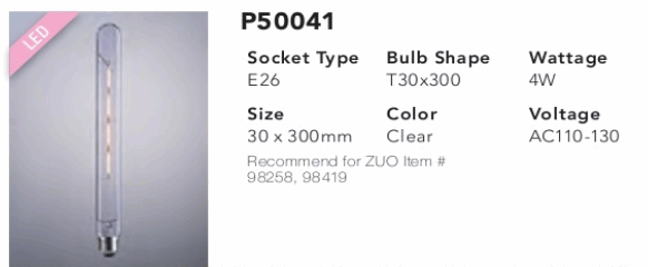 P50041 T30x300 LED Bulb