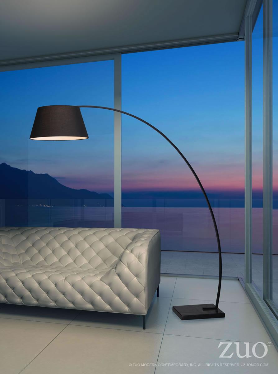 zuo modern arc floor lamp