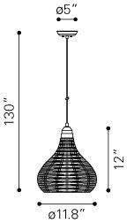 Nezz Modern Ceiling Pendant Lamp Natural