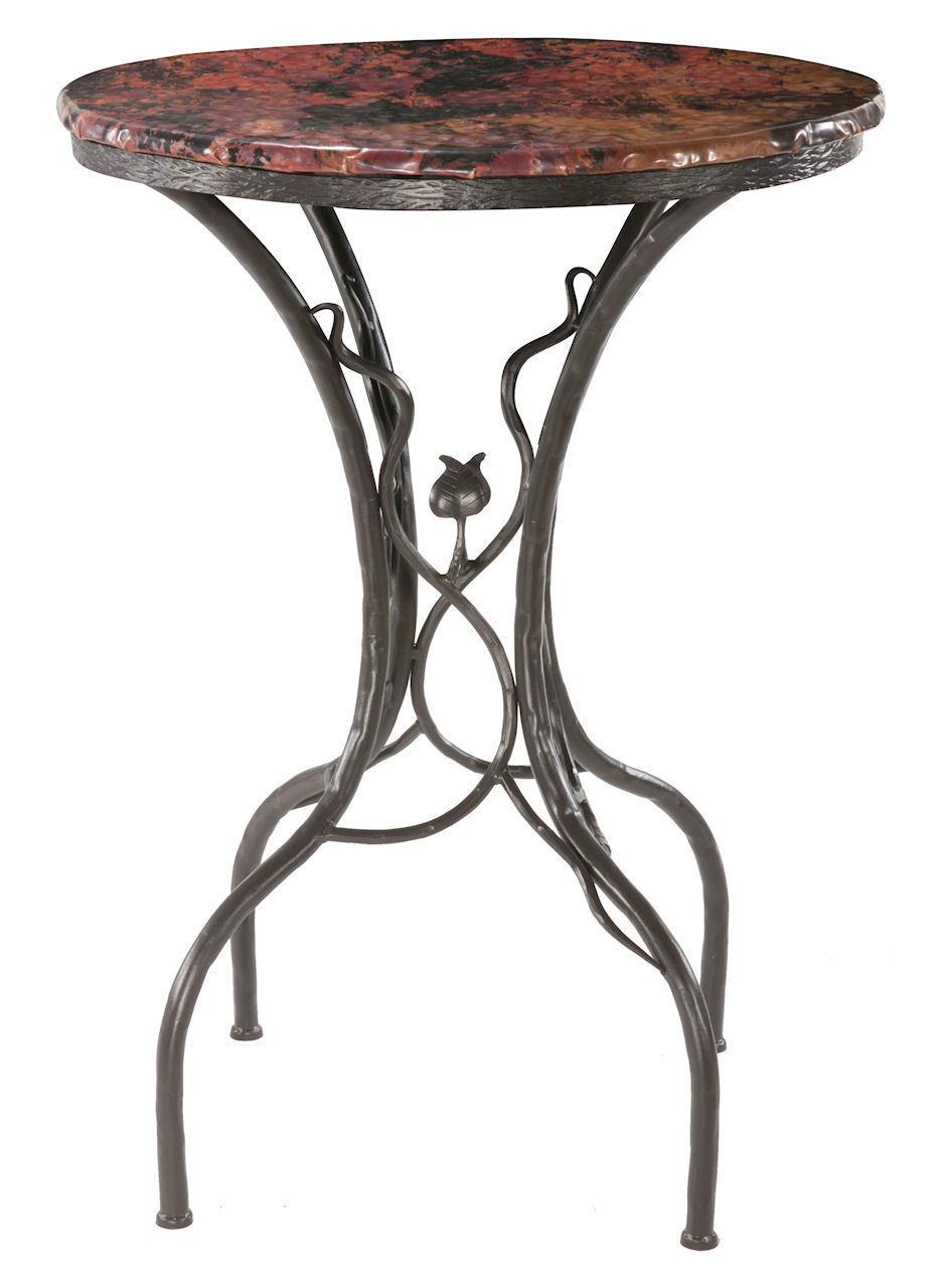 Sassafras Wrought Iron Bar Table 903-243