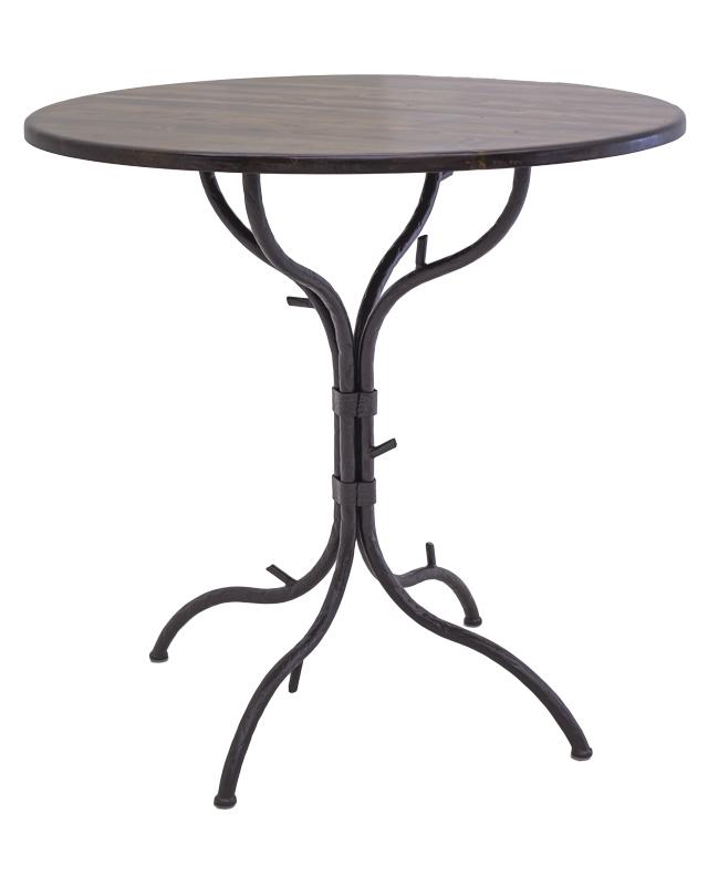 "Woodland Wrought Iron folding Bar Table 31"" dia. 40"" tall"