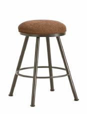Alexander Backless Bar Stool in Rust and Radar Nugget seat 1102630-EB