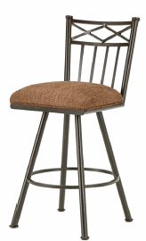 Alexander Counter Stool in Rust with Radar Nugget seat 1103626-EB