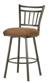 Emma Bar Stool in Rust and Radar Nugget Seat 5603630-EB