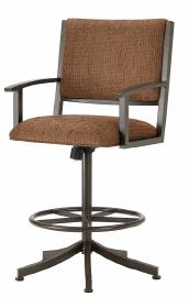 Executive Tilt Swivel Bar Stool in Rust and Radar Nugget Seat 4705630-EB