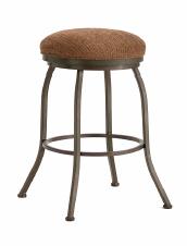 Fiesole Backless Bar Stool in Rust and Radar nugget Seat 2002630-EB