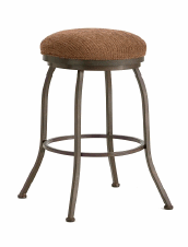 Fiesole Backless Counter Stool in Rust and Radar Nugget Seat 2002626-EB