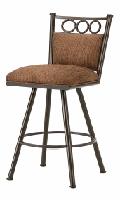 Waterson Bar Stool in Rust with Radar Nugget seat 3603630-EB
