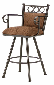 Waterson Counter Stool with Arms in Rust and Radar Nugget sea 3604626-EB