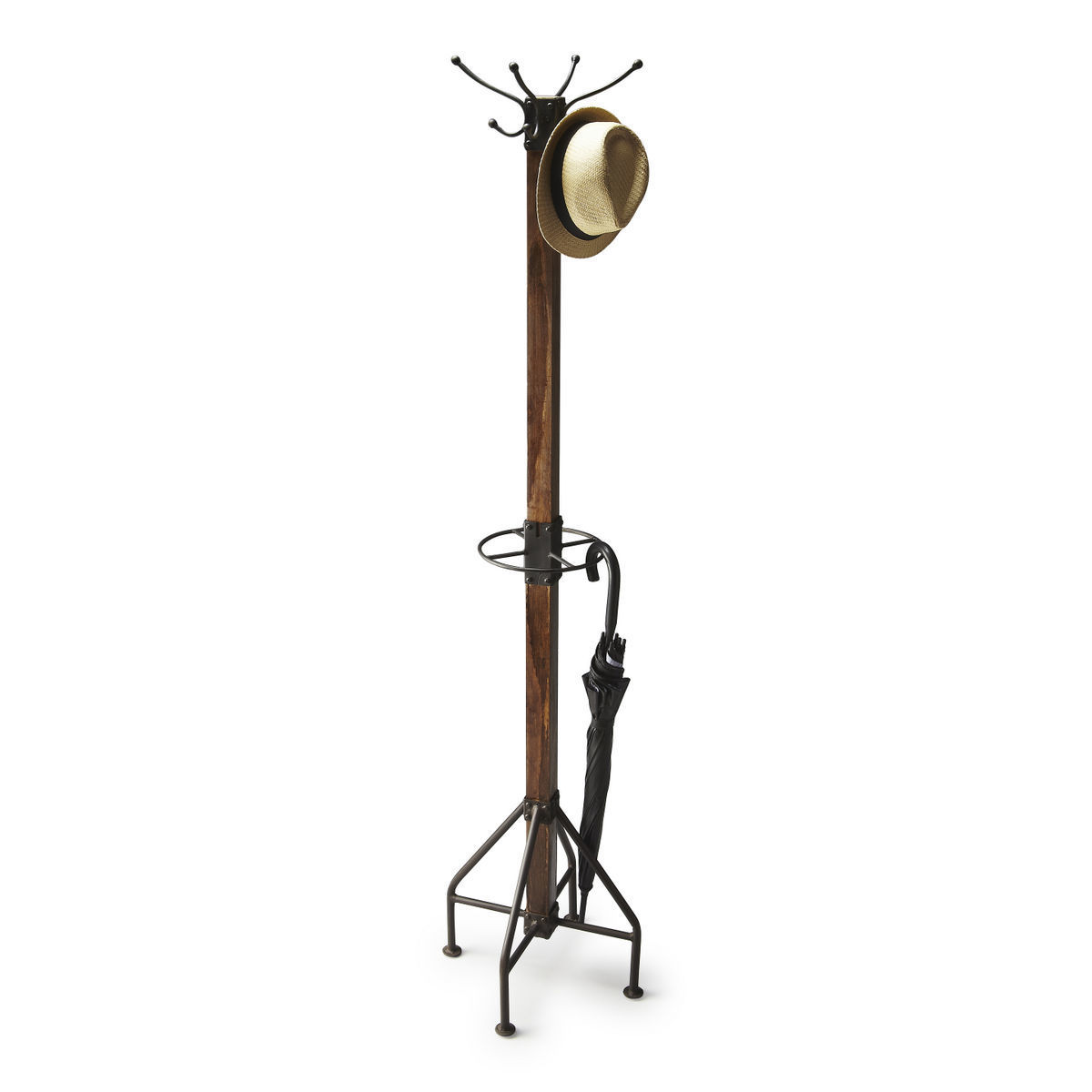 Hung Industrial Coat and Hat Hall Tree 2059120