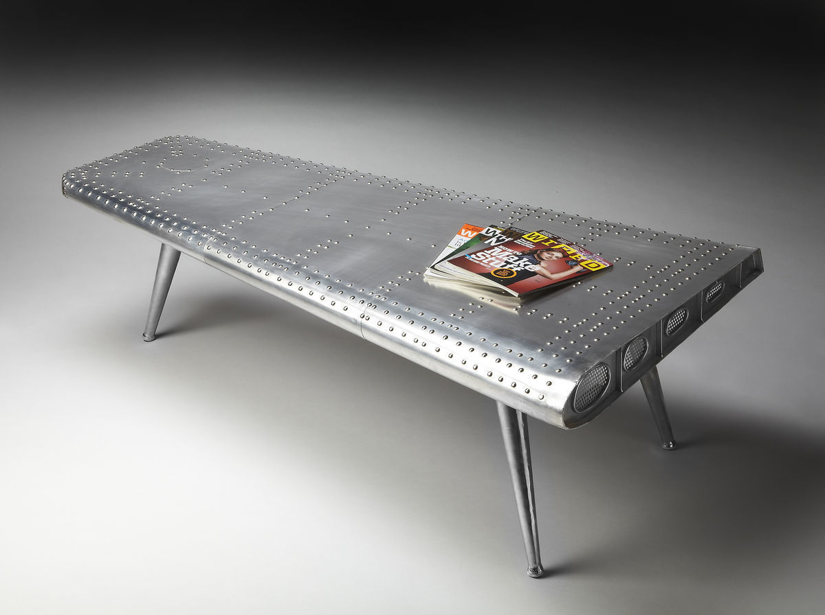 AV8 Industrial Wing Coffee Cocktail Table