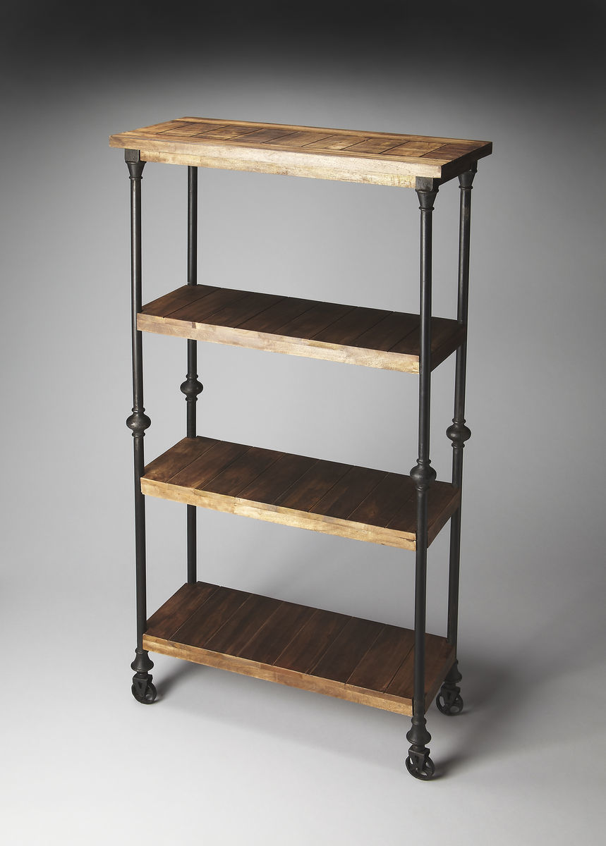 Bell Bottom Industrial Bookcase